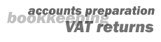 accounts preparation, bookkeeping, VAT returns